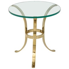 1970s Brass Tri-Pod Side Table