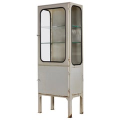 Vintage Steel and Glass Medical Cabinet, 1970s