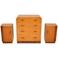 1950s Oak and Walnut Chest of Drawers or Bedside Cabinets by E. Gomme