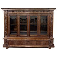 Herrenzimmer Cupboard Bookcase Antique Table Display Case Löwentatz