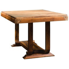 French Design Art Deco Walnut Table