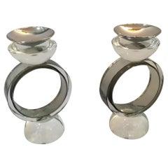 Pair of Murano Glass Candlesticks
