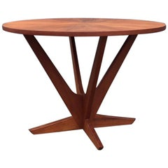 Danish Teak Starburst Coffee Table by Søren Georg Jensen for Kubus, 1960s