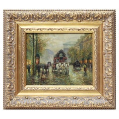 Albert Munghard Oil Painting of Paris Street Scene