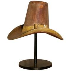 19th Century Giant American 10 Gallon Hat Original Shop Metal Trade Sign