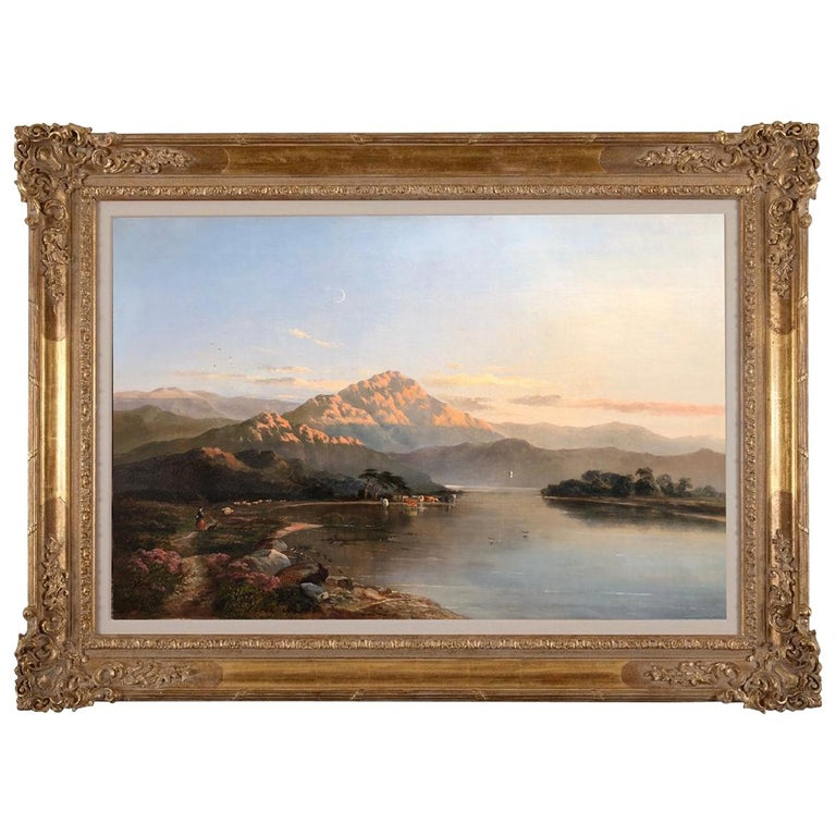 Sidney Richard Percy Welsh Landscape, Oil on Canvas, circa 1860, England For Sale