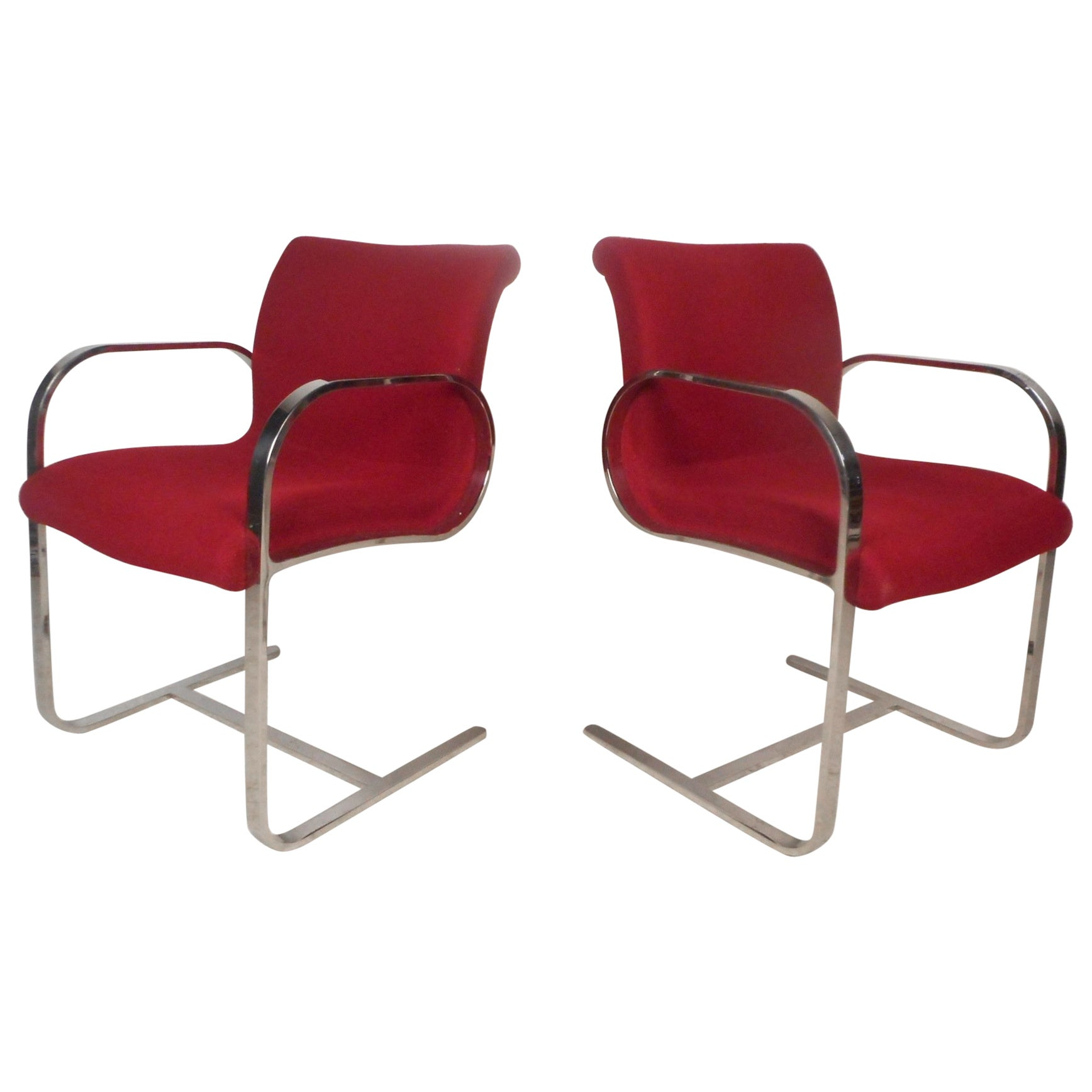 Pair of Midcentury Cantilever Armchairs