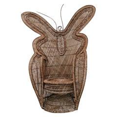 1970s Butterfly Wicker/Rattan Chair