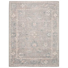 Large New Handmade Turkish Oushak Rug