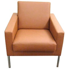 Leather Leon Lounge  Armchair
