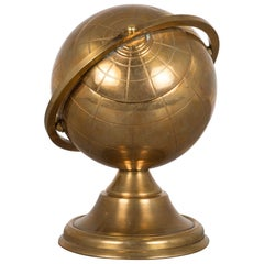 Midcentury Brass Globe Cigarette Holder, circa 1960