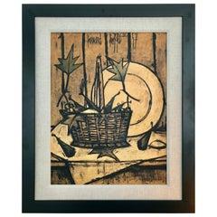 """Bernard Buffet """"Fruit Basket"""", 1950s"""