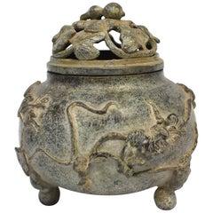 Antique Incense Burner with Gourd Form