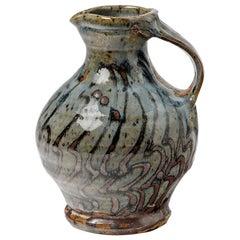 Rare and Unique Ceramic Pitchet by Anne Kjaersgaard, La Borne, circa 1970