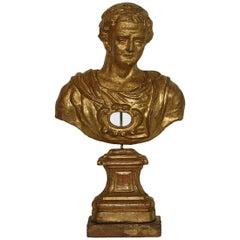 Italian 18th Century Papier Mâché Reliquary Bust