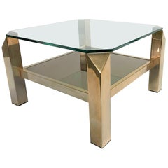 Vintage Brass Coffee Table by Belgo Chrome, 1970s
