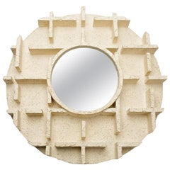 Ceramic Mirror by Denis Castaing, 2018