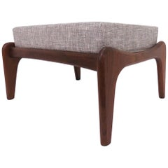 Adrian Pearsall for Craft Associates Mid-Century Ottoman in Walnut circa 1960s
