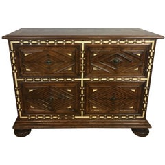 Spanish Baroque Walnut Chest Late 17th-Early 18th Century