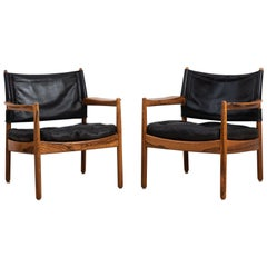 Pair of Easy Chairs by Gunnar Myrstrand
