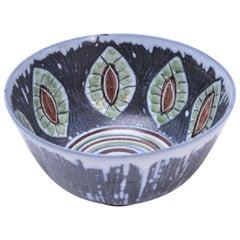 Handmade Swedish Ceramic Bowl by Alingsås Ceramic, 1960s
