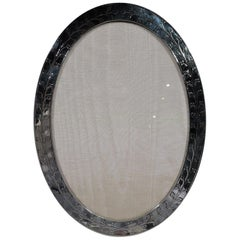 Tiffany Art Deco Sterling Silver Oval Picture Frame