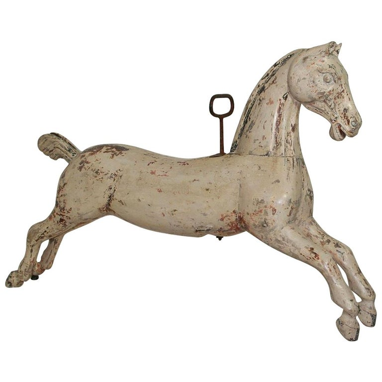 Late 19th Century French Carousel Horse For Sale