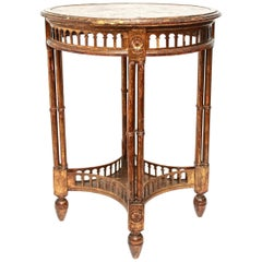 American Aesthetic Movement Parcel-Gilt Side Table