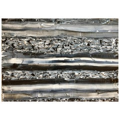Mineral by Liora Textured Grey Black Large Abstract Canvas Contemporary Painting