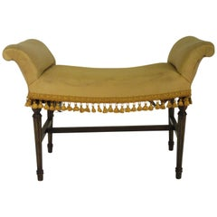 1920s Scrolled Arm Bench