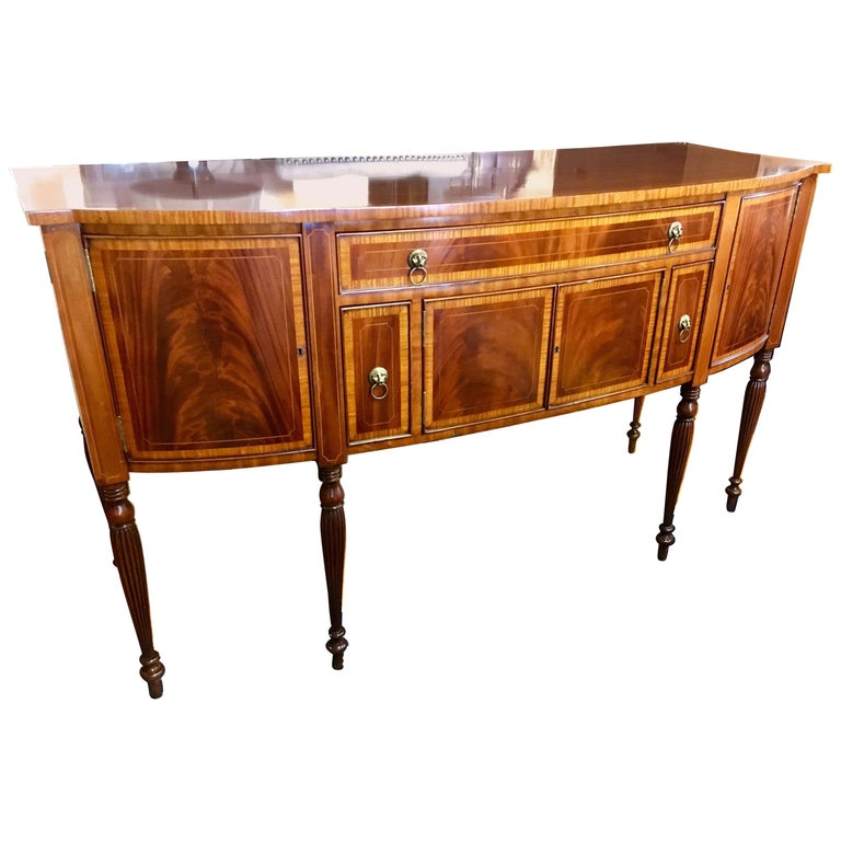 Maitland Smith Flame Mahogany Buffet Server Sideboard Credenza Cabinet For Sale