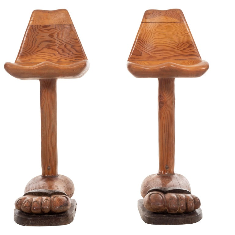 American Craft Foot 'BAR' Stools For Sale