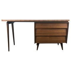 Elegant Modernist Desk with Unusual Asymmetrical Top by Mallin Furniture Co