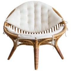 Nanna Ditzel Rattan Easy Chair, 1951