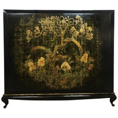 French Midcentury Chinoiserie Lacquered Bar Cabinet, Signed A. Bouverat