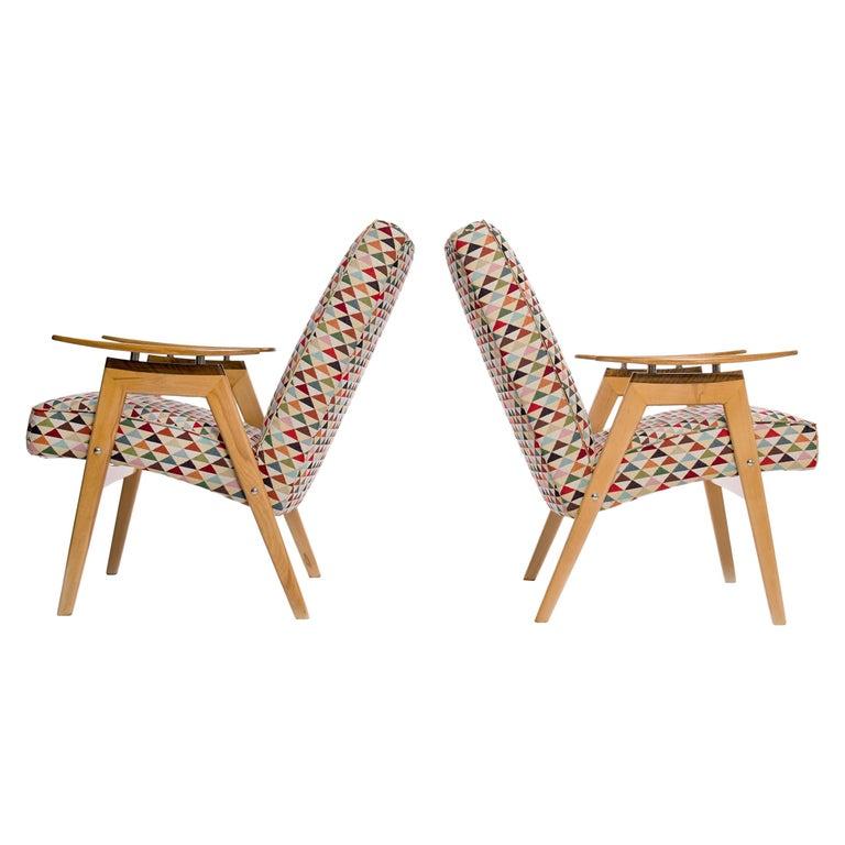 Lounge Chairs by Jaroslav Smidek for Jitona, 1960s, Set of 2 For Sale