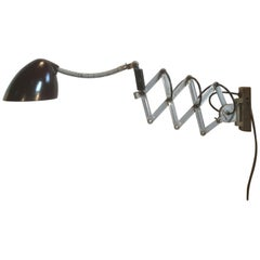 Grey Industrial Scissor Wall Lamp, 1960s
