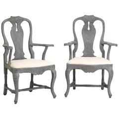 18th Century Pair of Swedish Rococo Armchairs