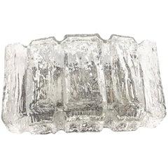 Ice Block Glass Sconces Vintage German, 1960s RZB Leuchten