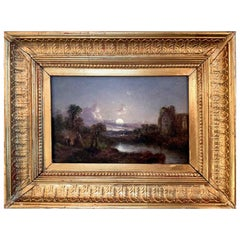 Early 19th Century Landscape Painting, Style of Casper David Friedrich