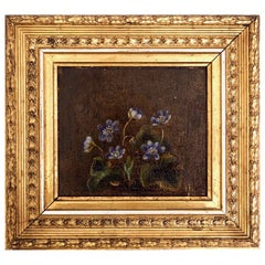 Important Danish Flower Painting by Johanne Hellesen, Signed and Dated