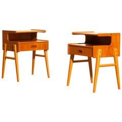 1960s Pair of Teak 'Model C' Bedside Tables