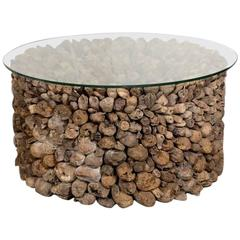 Organic Coastal Driftwood Cocktail Table