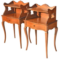 Pair of Provencal Nightstands in Walnut with Raised in 1925