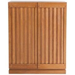 Minimalist Natural Oak Bar Cabinet, 1970