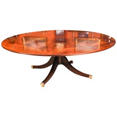 Vintage Flame Mahogany Jupe Dining Table, Mid-20th Century