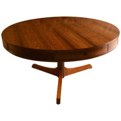 Robert Heritage for Archie Shine Rosewood Drum Dining Table, 1960s