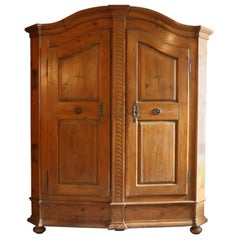 German Baroque Bodensee Armoire, Pine, 18th Century