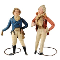 Pair of 19th Century English Georgian Dandy Figures