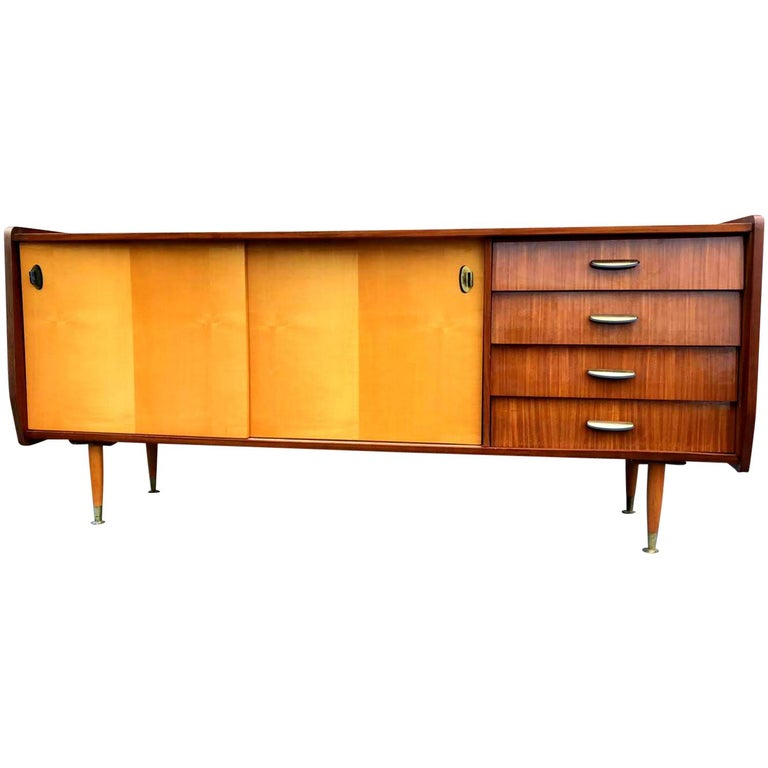 Italian Midcentury Mahogany Sideboard from the 1960s For Sale